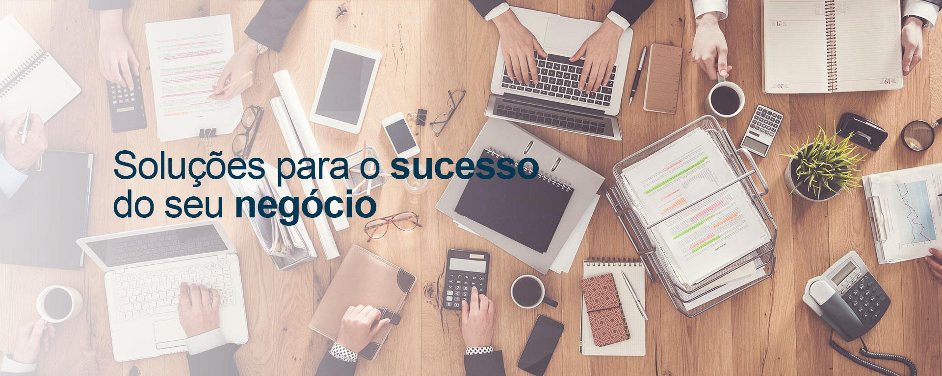 Banner Soluções para o sucesso  do seu negócio